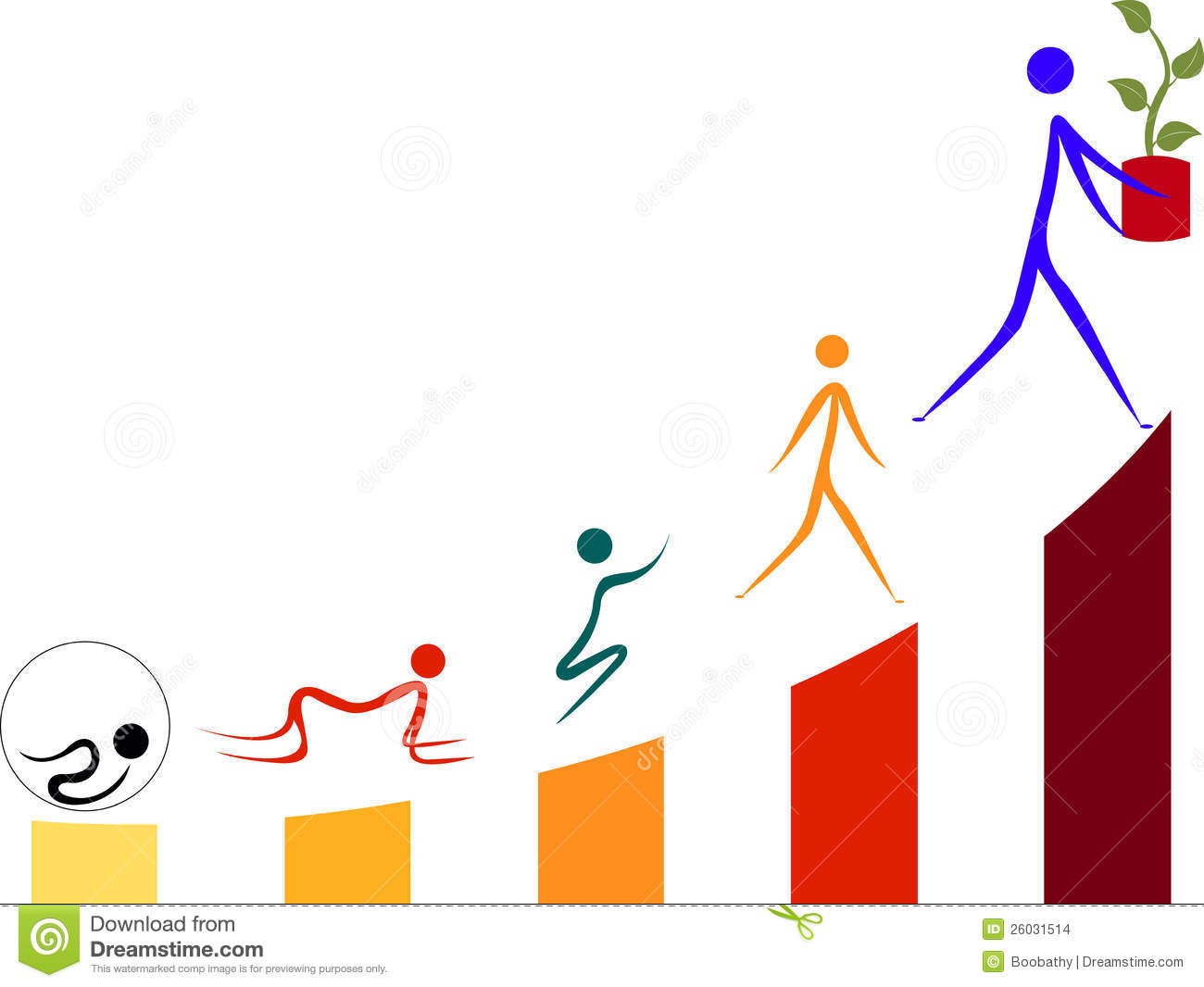 Generation Growth Stock Illustration Illustration Of