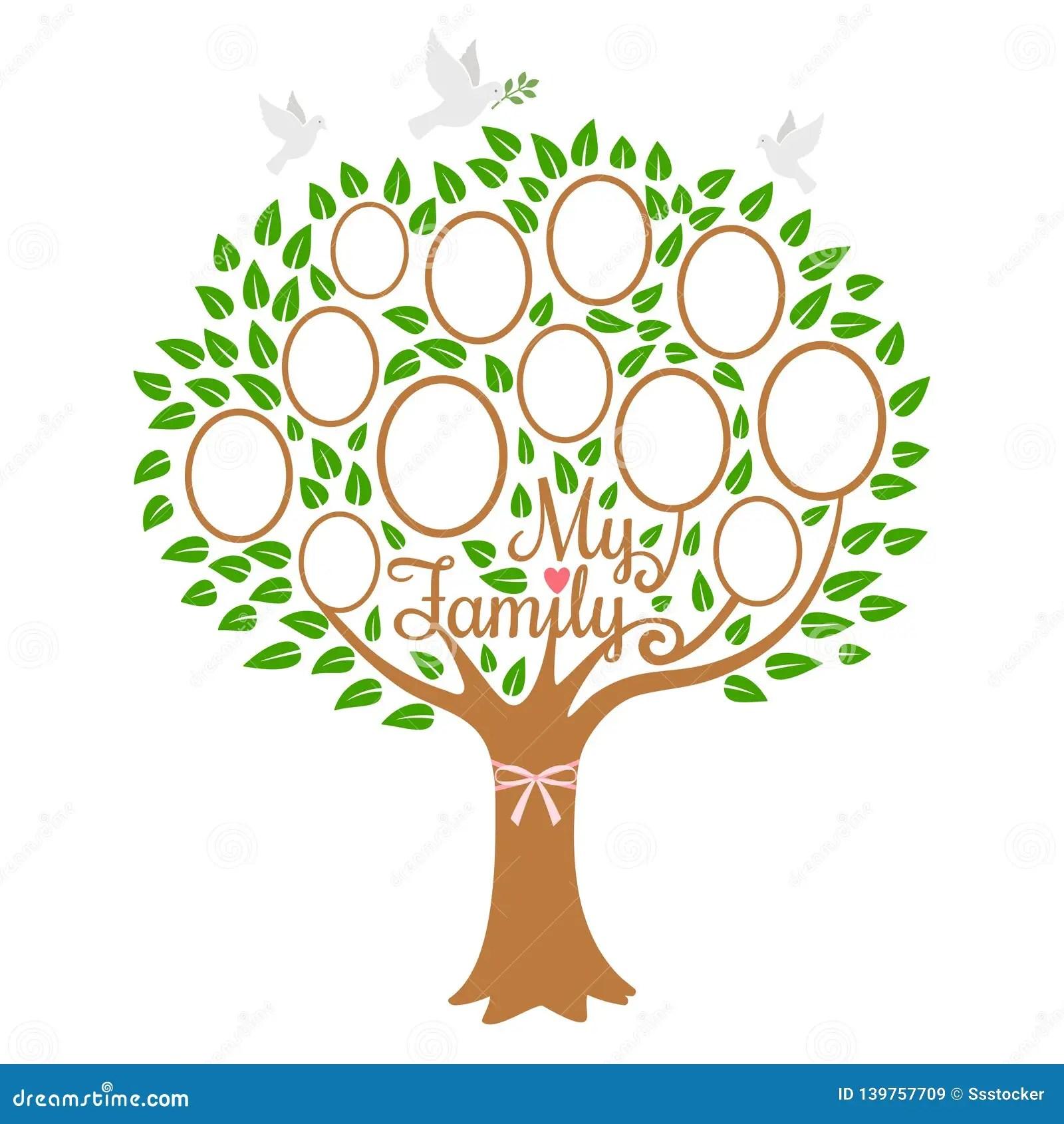 Albero Genealogico D Annata Illustrazioni Vettoriali E