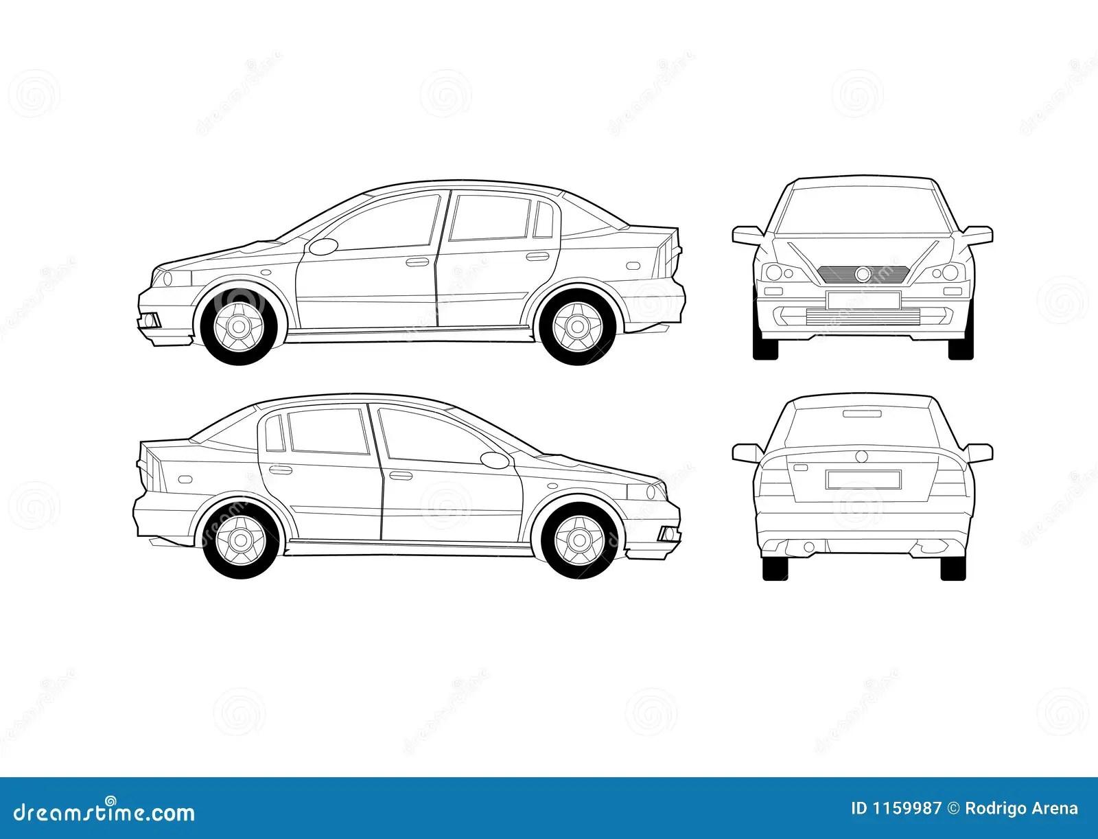 hight resolution of generic saloon car diagram