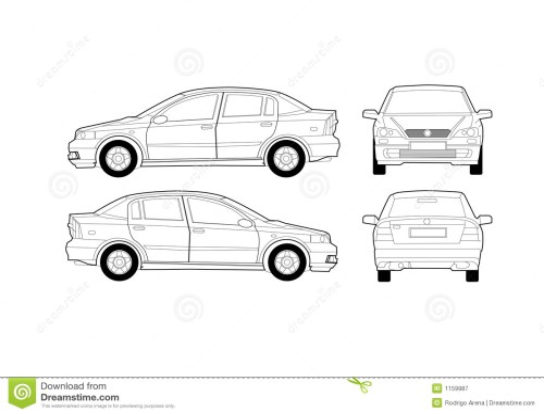 small resolution of generic saloon car diagram