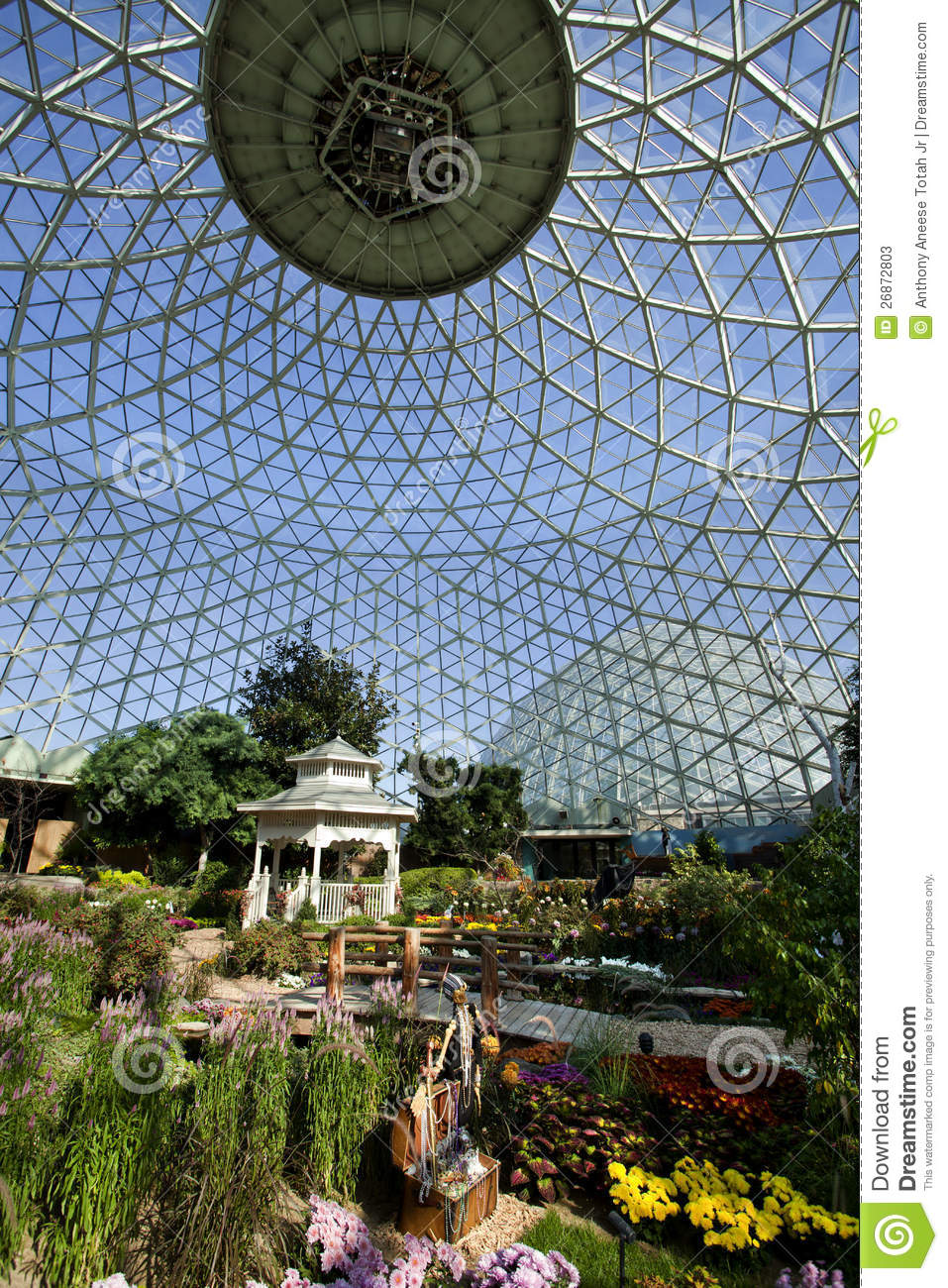 Geodesic Glass Greenhouse stock image Image of modern  26872803