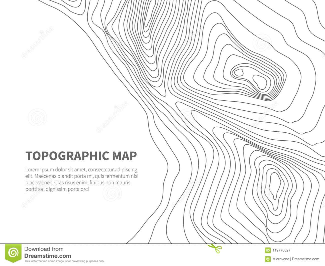Mountain Contours Stock Illustrations