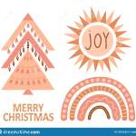 Geometric Christmas Tree With Ethnic Ornaments In Bohemian Style Isolated On White Background Winter Holidays Rustic Decor Stock Illustration Illustration Of Geometric Boho 197610251