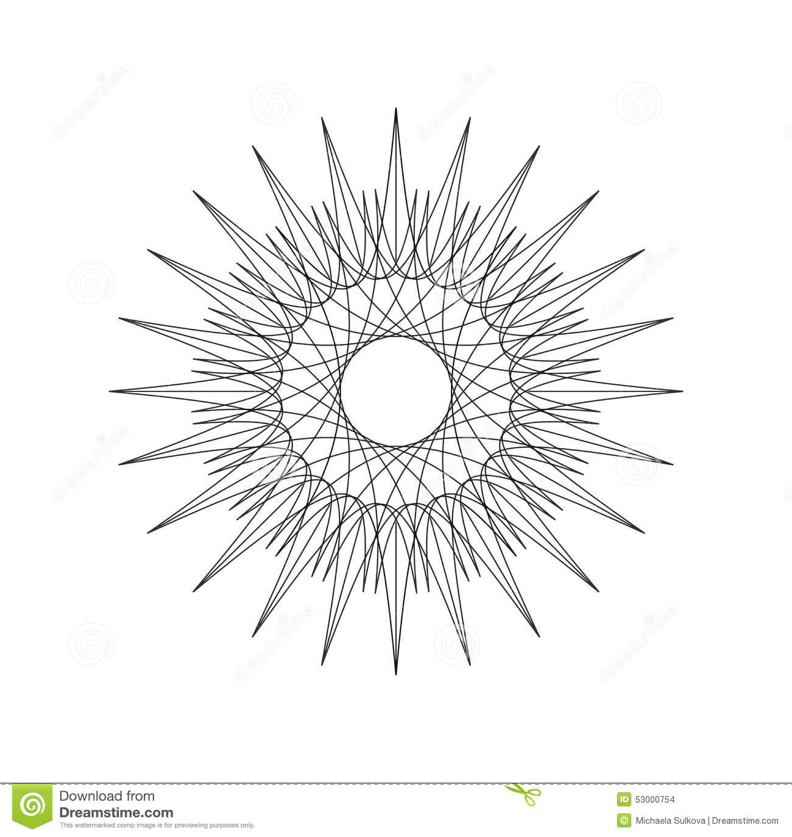Geometric Decoration Shape, Ornament Mandala Line Design