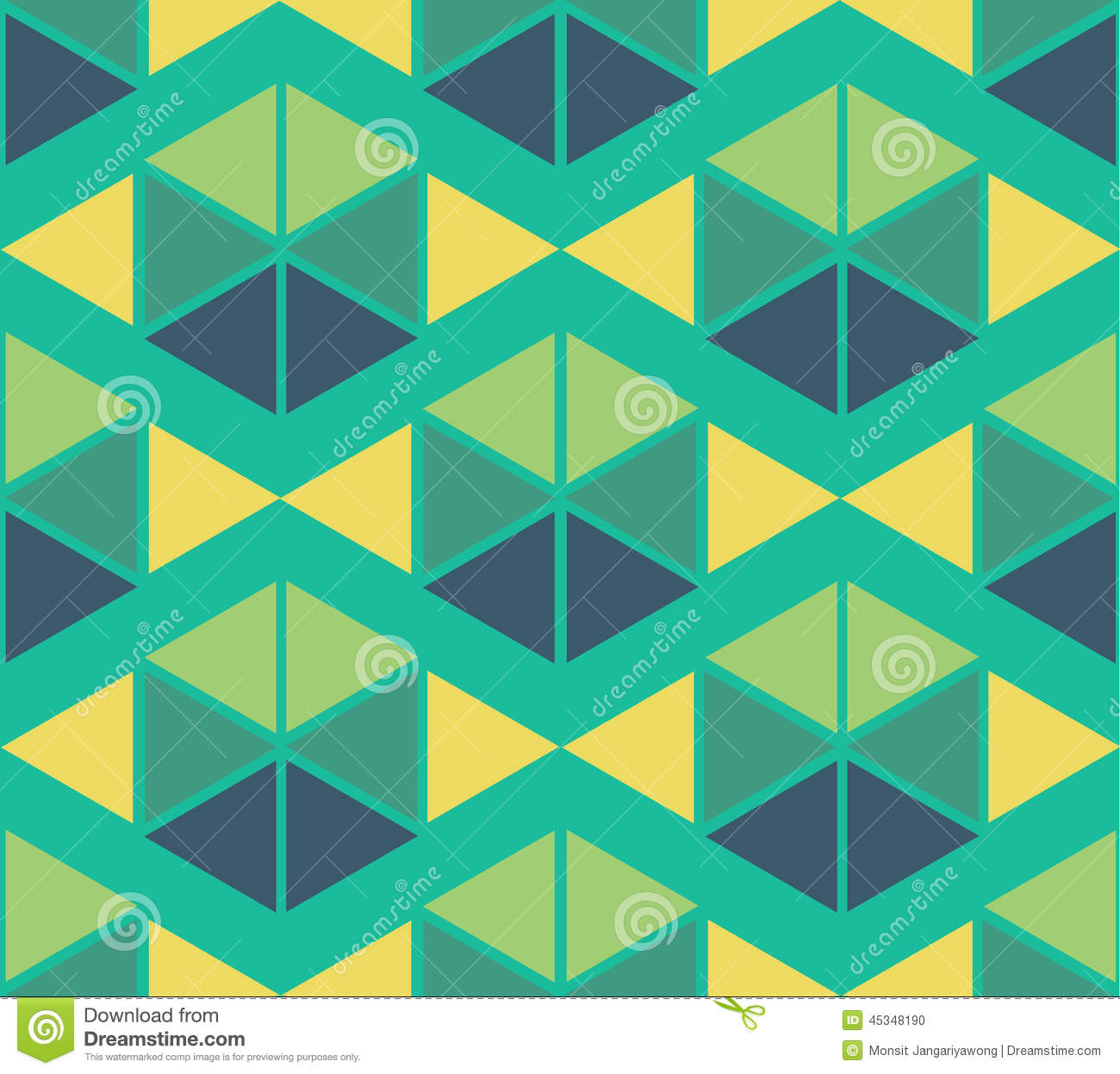 Geometric Green Yellow Blue Color Pattern Background Stock
