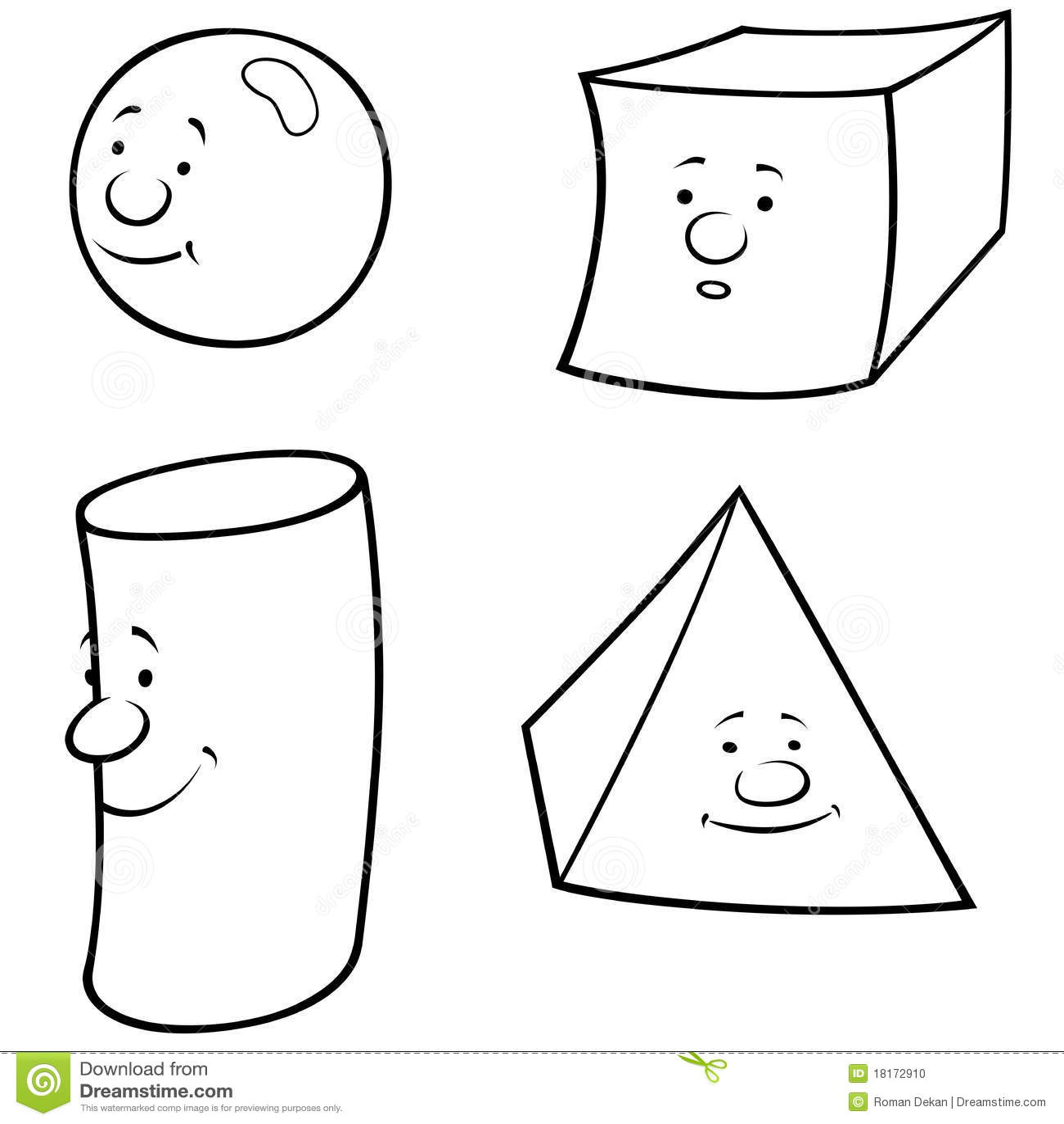 Geometric Shapes Stock Vector Illustration Of Pyramid