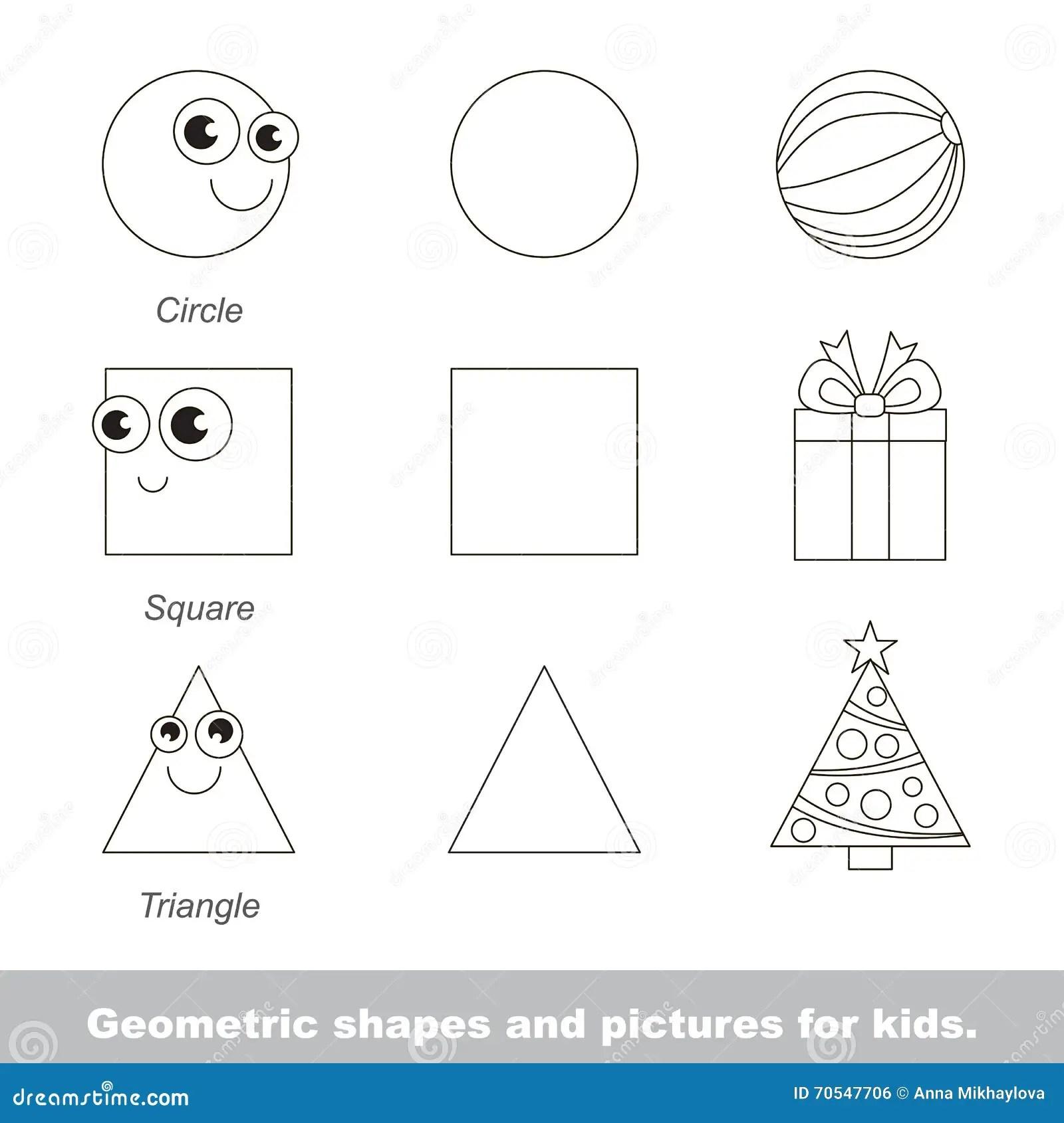 Geometric Shapes For Kids Stock Illustration Illustration