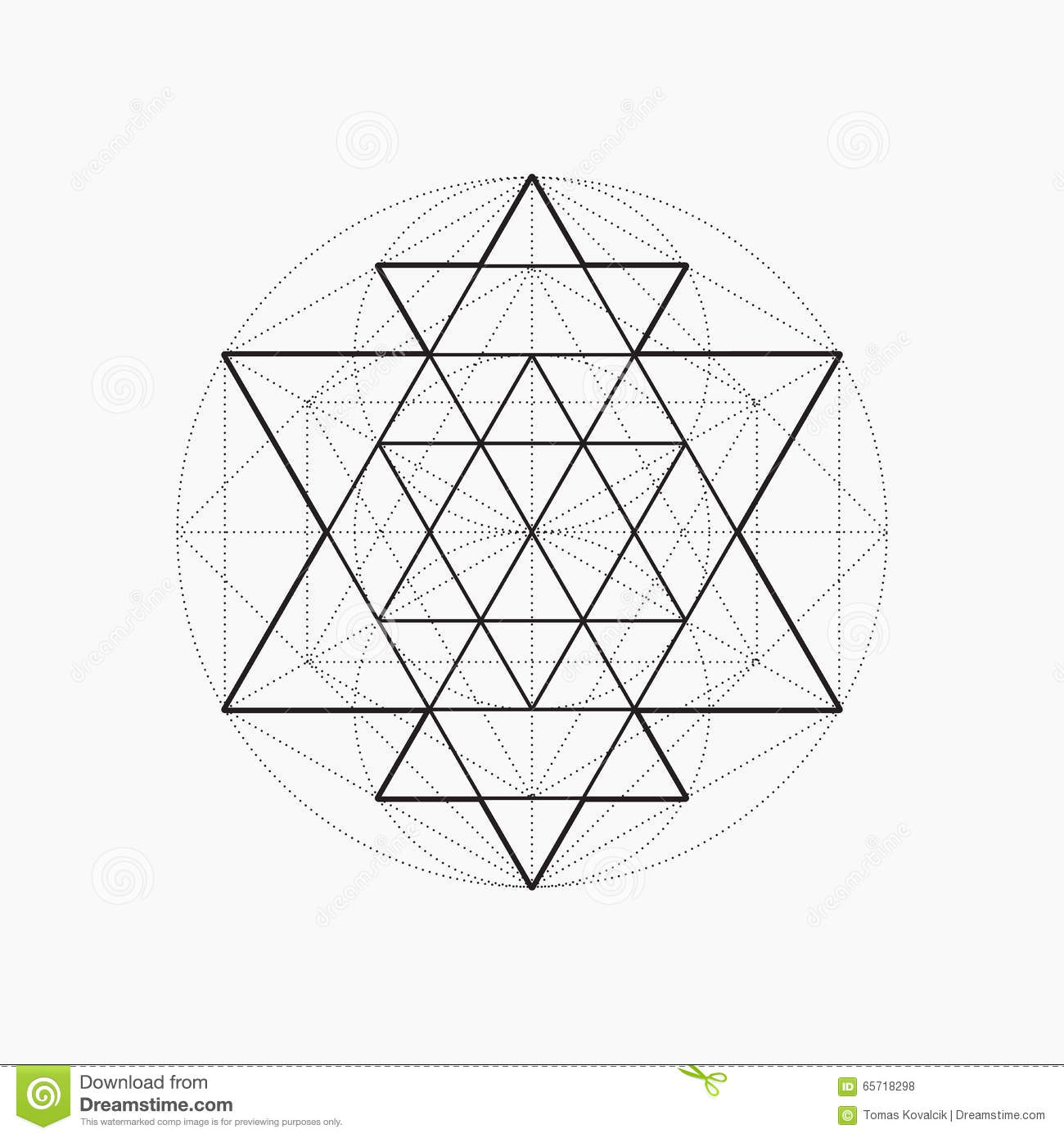Geometric Shapes, Line Design, Triangle Stock Vector