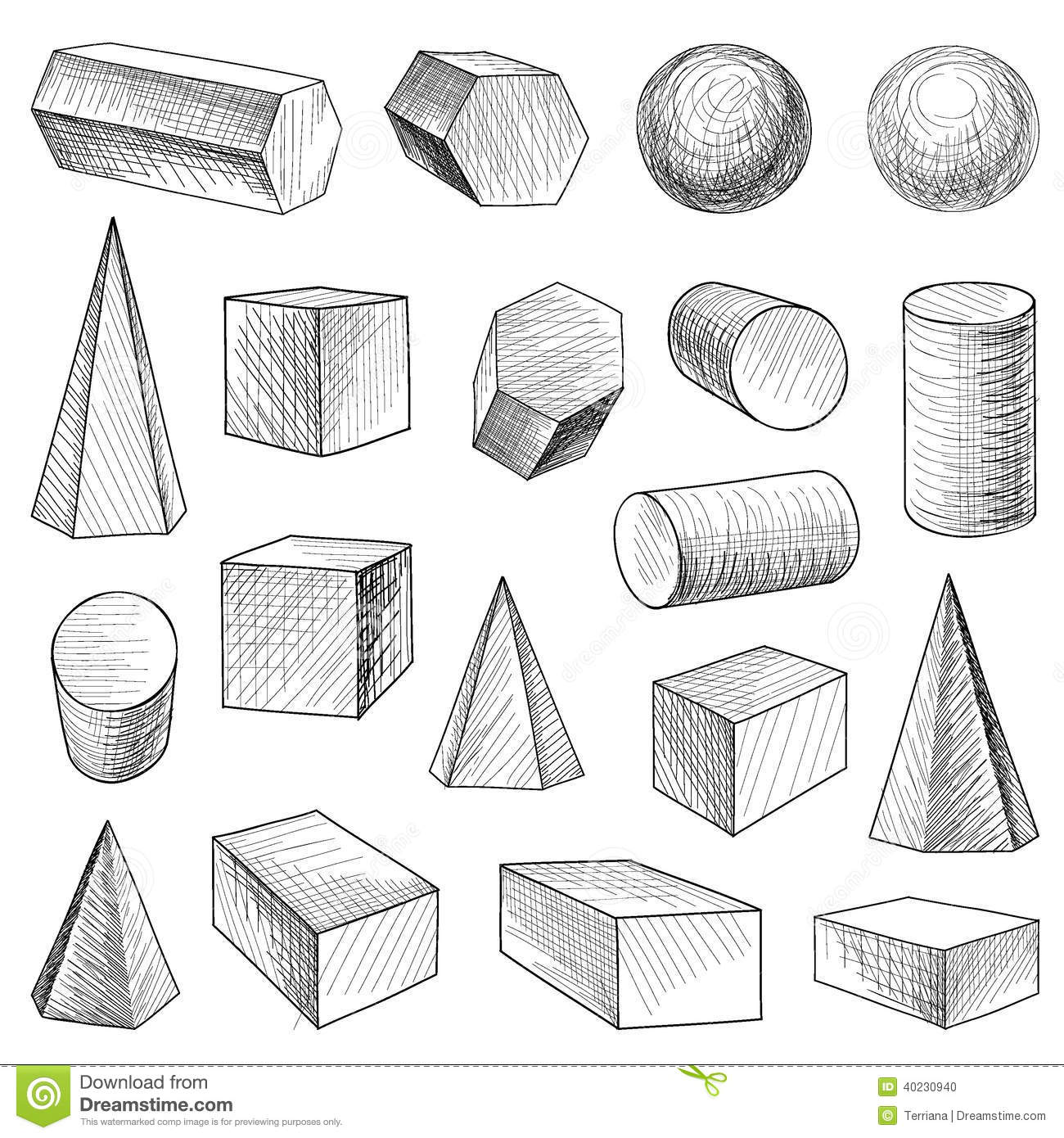 Geometric Shapes Set Stock Vector