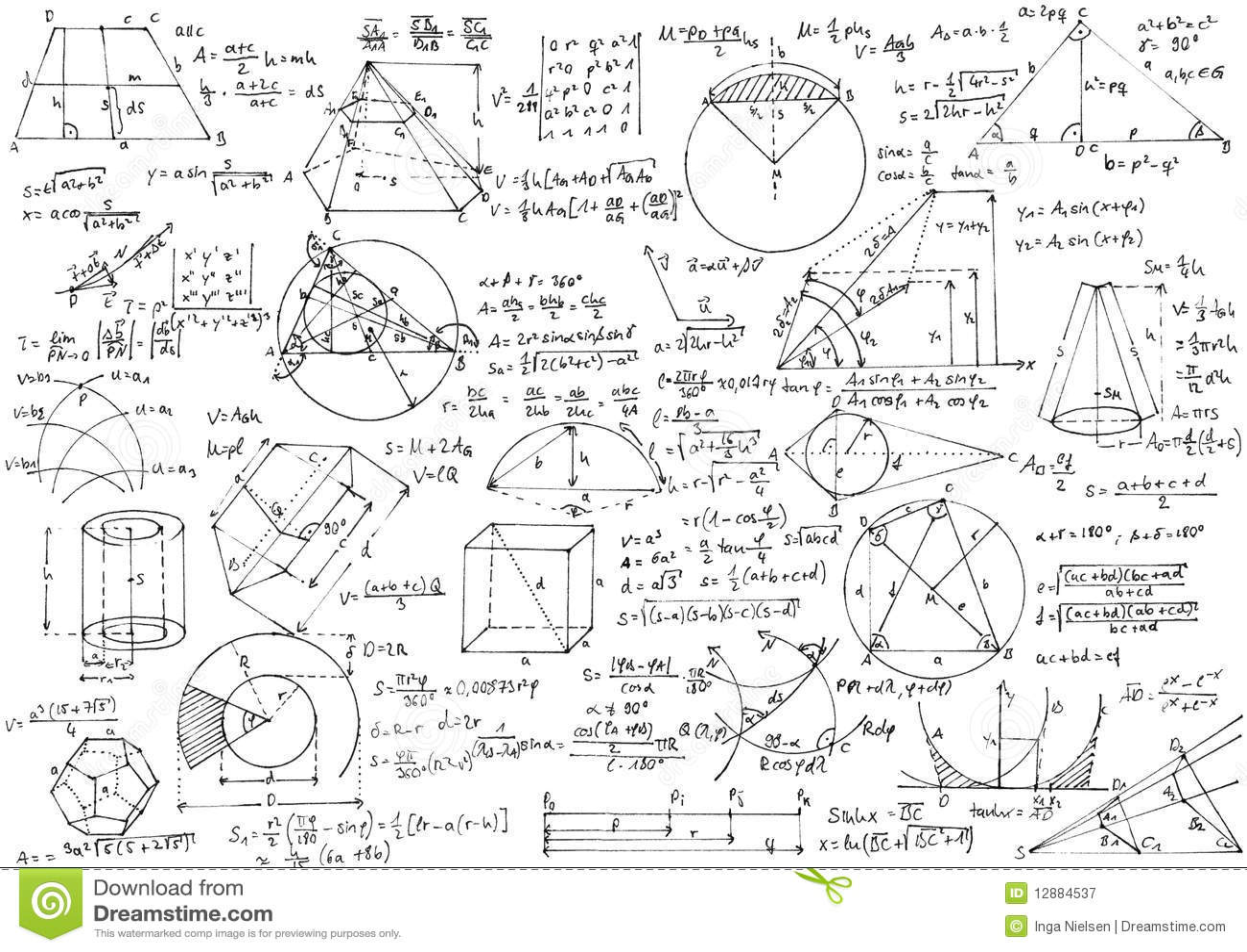 Geometrie stockbild. Bild von form, gleichung, formulare
