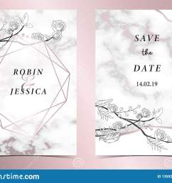 geometry pink gold outline wedding invitation card with rose leaf wreath feather drawing [ 1600 x 1205 Pixel ]