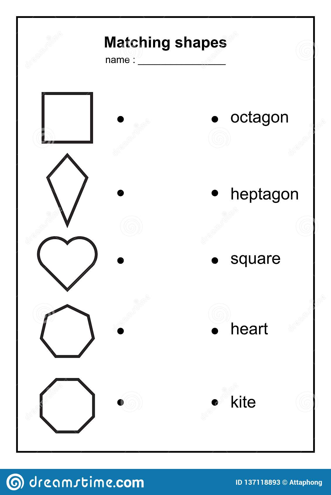 Geometry Shape Matching Game Educational Geometric Shapes