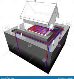 geothermal heat pump underfloor heating diagram [ 1333 x 1300 Pixel ]