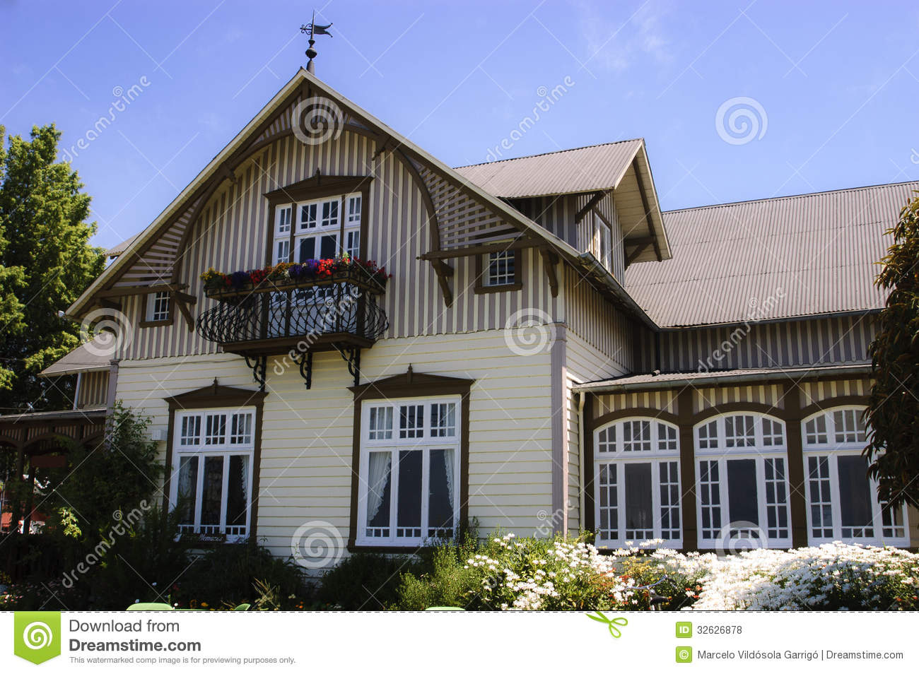 German house stock photo Image of puerto history house  32626878