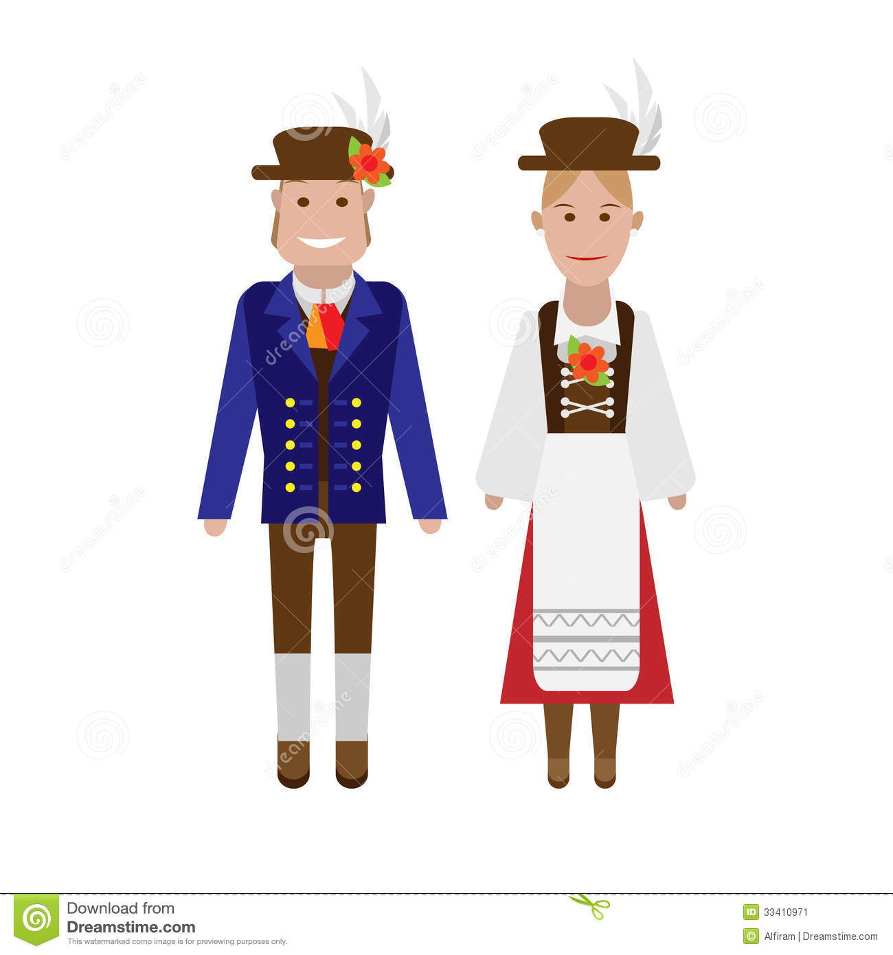 German National Costume Stock Vector Illustration Of Icon