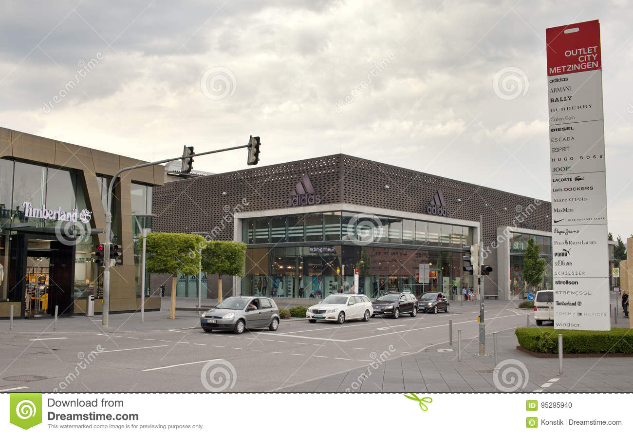 GERMANY - May 30, 2012: Outlet City Metzingen- The Center Of Sales Near Munich Editorial Image - Image of goods, business: 95295940