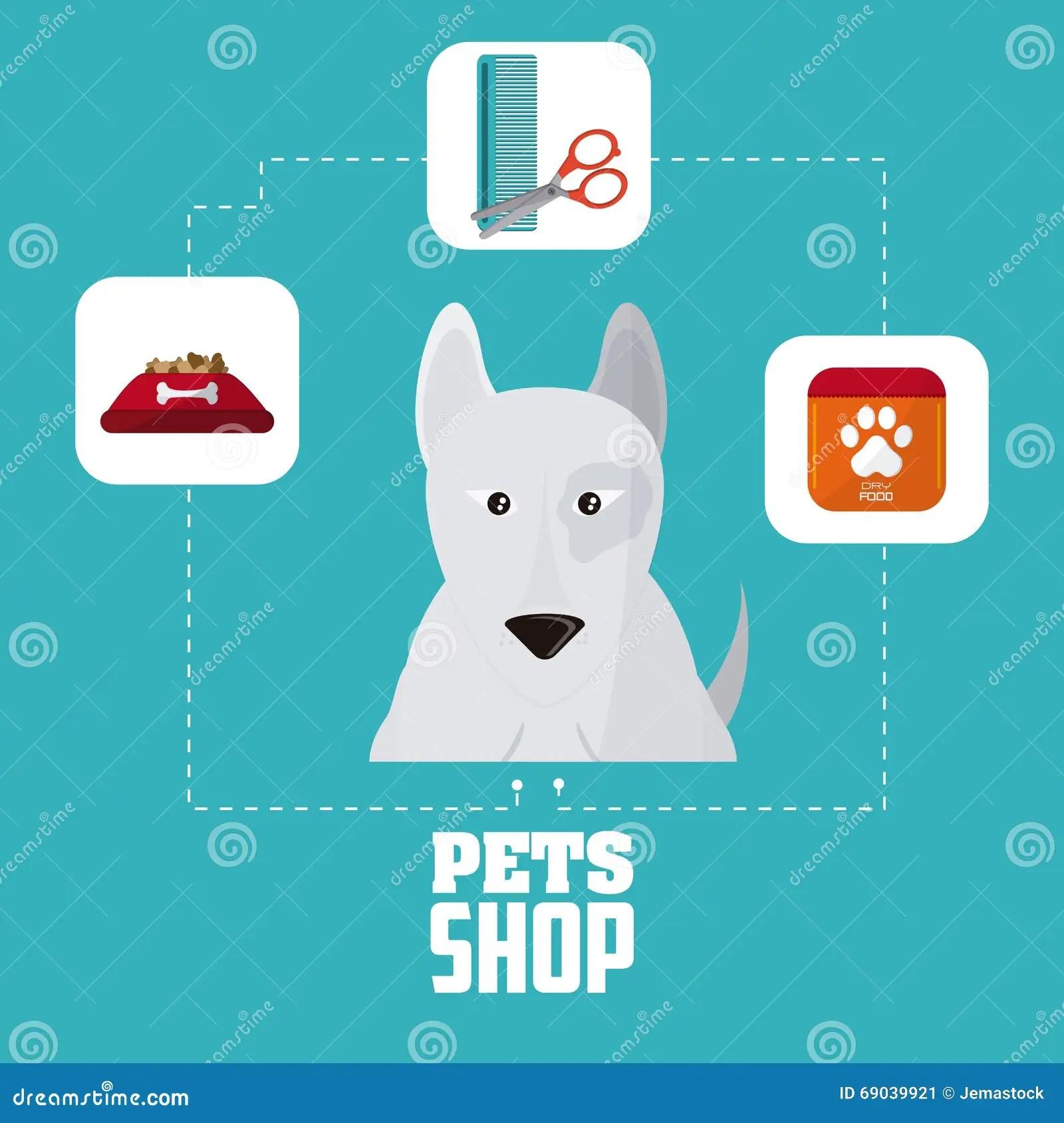 Geschft Fr Haustiere Und Hund Entwerfen Vector