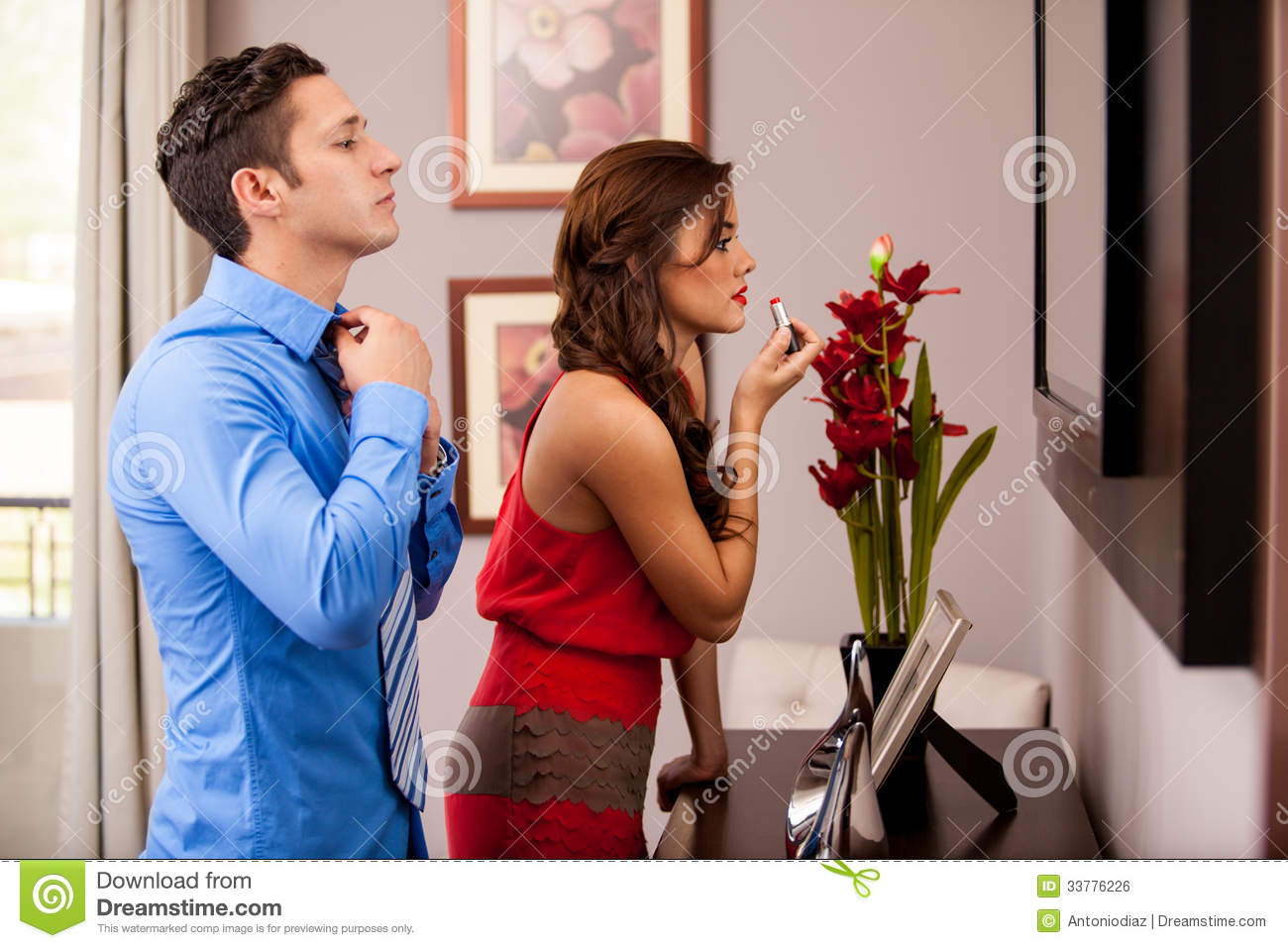 Getting ready for a date stock photo Image of getting
