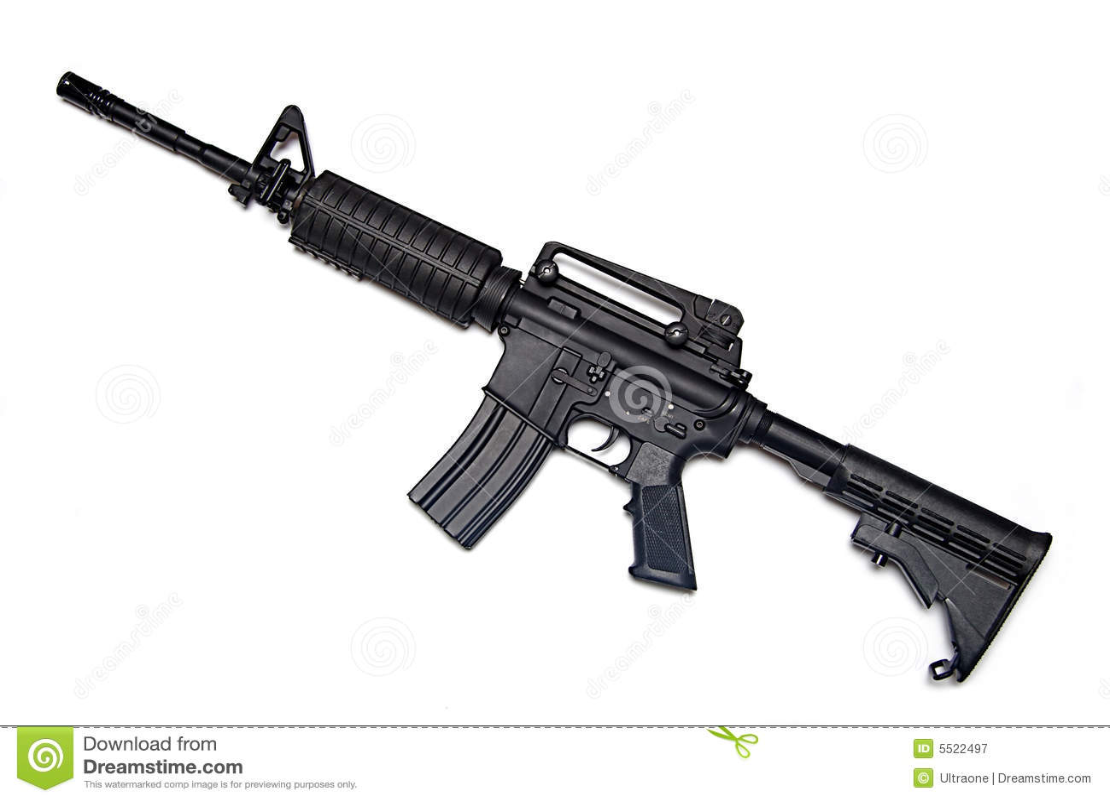 Gewehr Der Amerikanischen Armee M4a1 Stockbild
