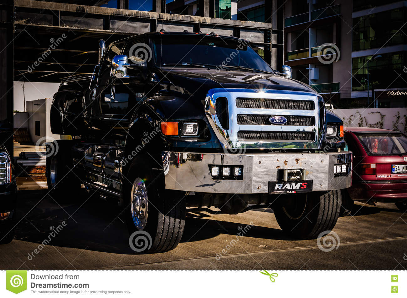 giant pickup truck editorial
