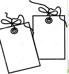 gift tag template cartoon vector clipart [ 1345 x 1300 Pixel ]