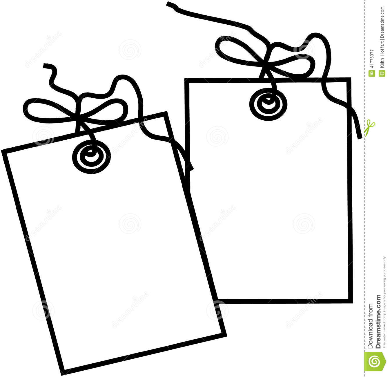 hight resolution of gift tag template cartoon vector clipart