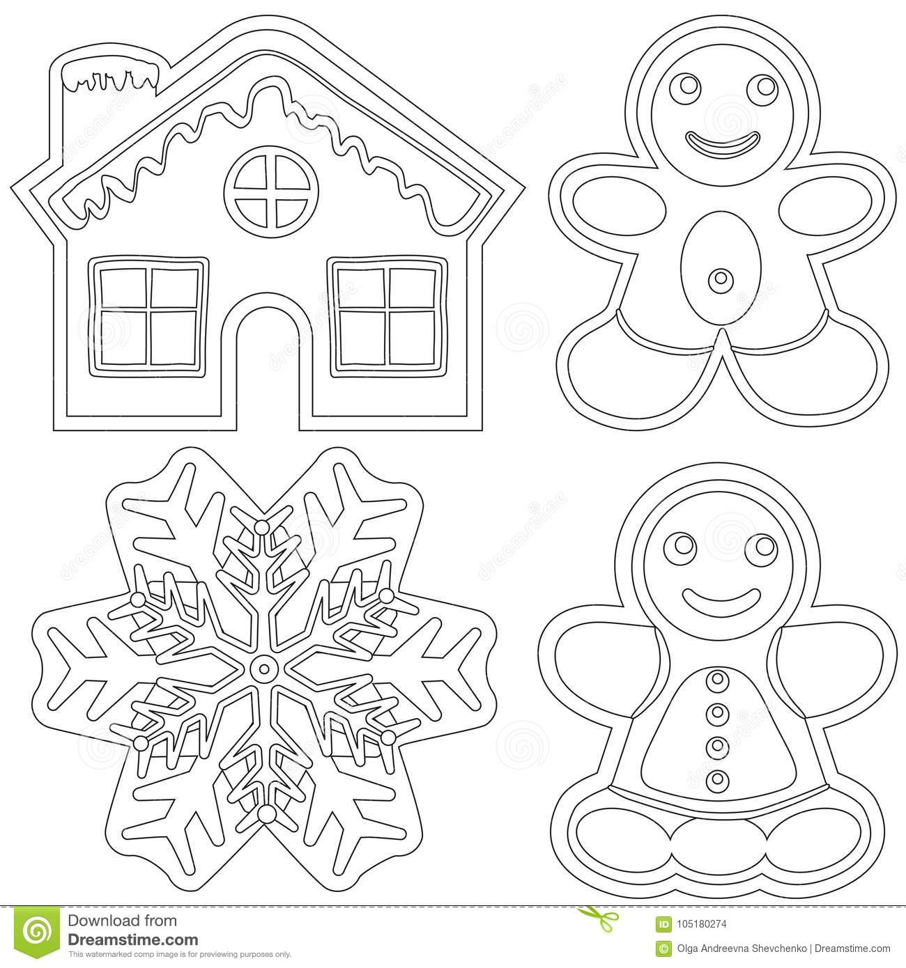 Gingerbread Black And White Poster