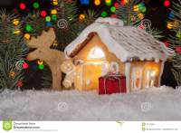 Christmas Gingerbread House Decoration Stock Image ...