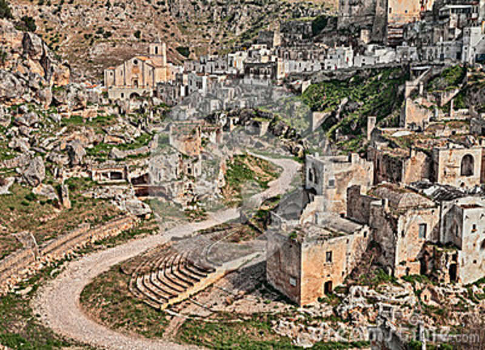 Ginosa Taranto Puglia Italia Paesaggio Di Vecchia