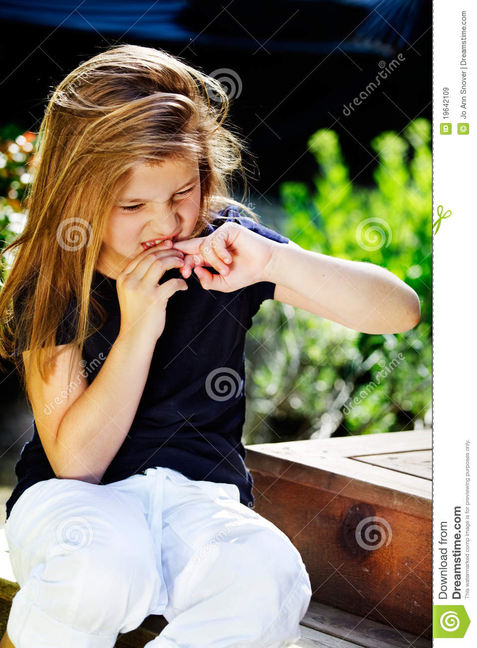 Girl Biting Nails Royalty Free Stock Images Image 19642109
