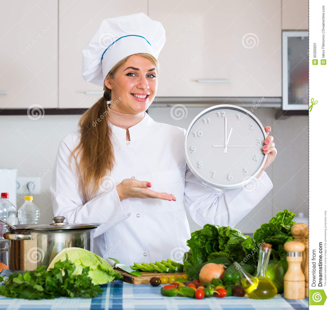 girl in chef uniform