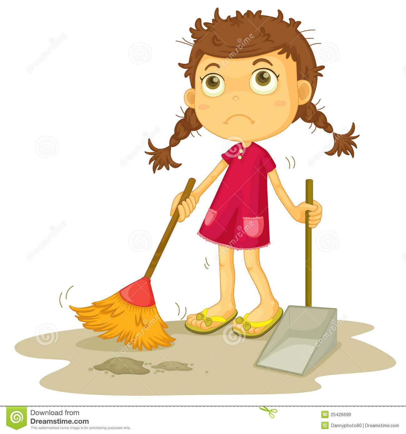Girl Cleaning Floor Royalty Free Stock Images Image