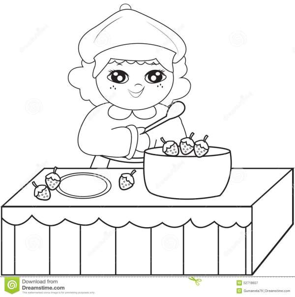 cooking coloring pages # 15