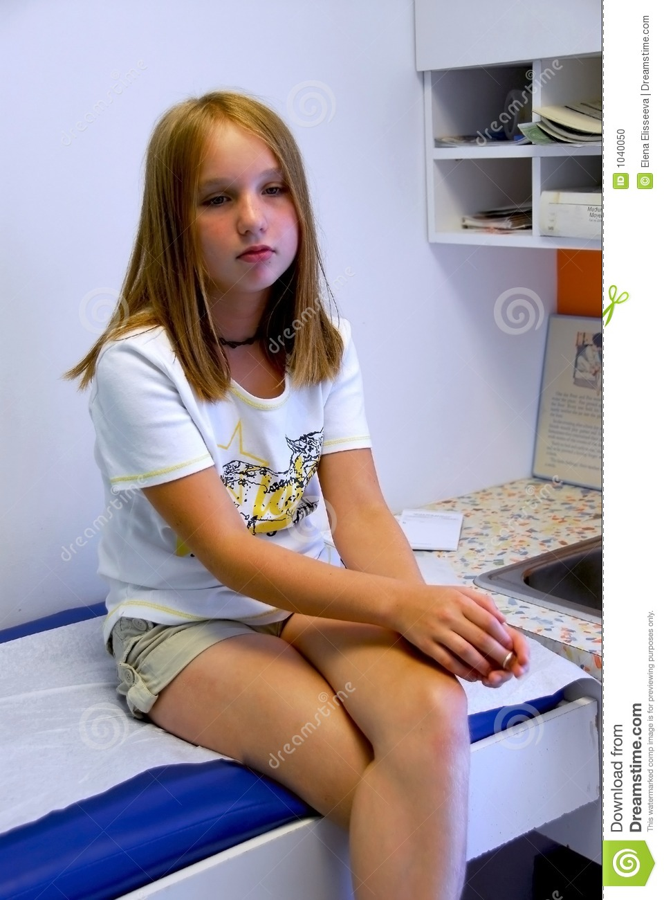 Girl doctor office stock photo Image of girls immunization  1040050