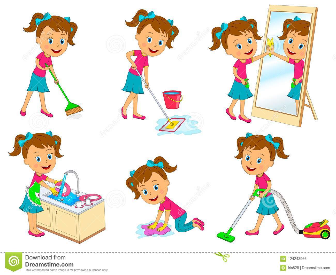Cartoon Images Of Kids Doing Chores