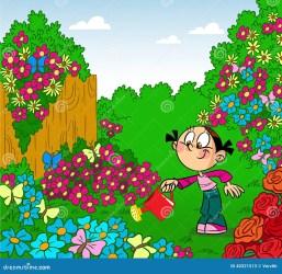 Garden cartoon images