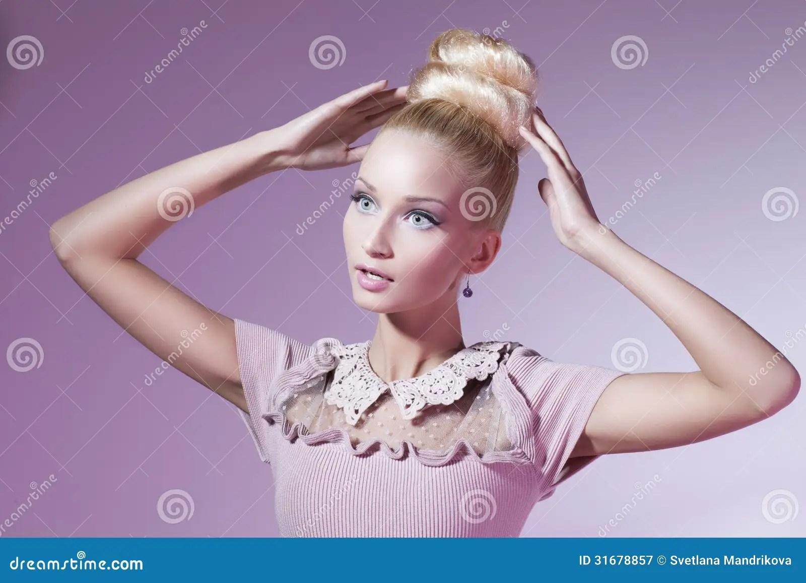 Girl Looking Like Barbie Doll Stock Image  Image 31678857