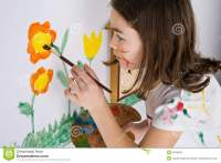 Girl Painting Stock Photos