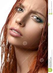 girl with red hair stock
