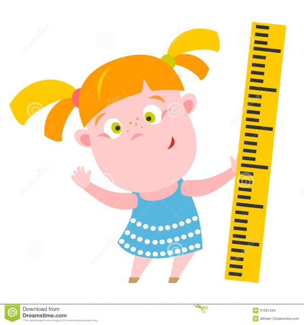 Girl With Ruler Stock - 31591444