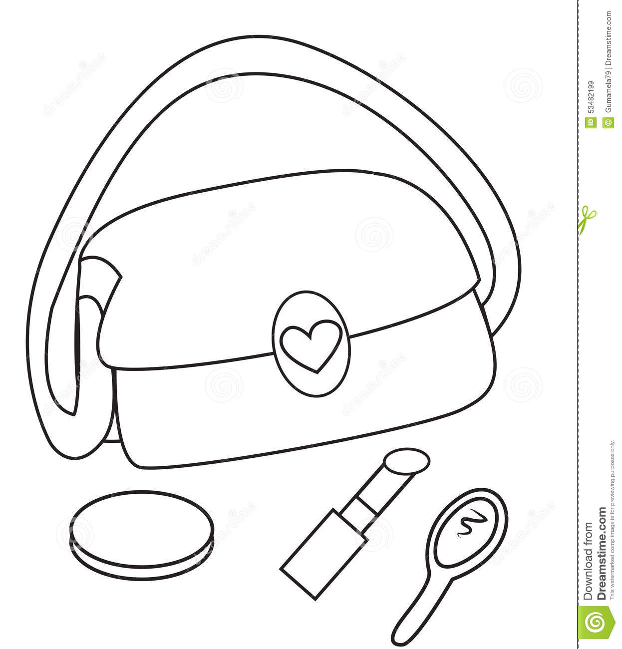 Makeup Face Coloring Pages Sketch Coloring Page