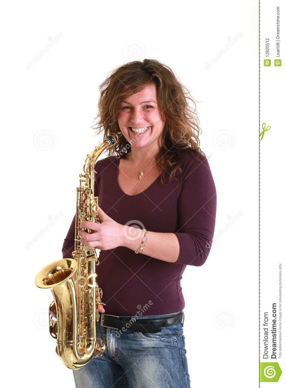 Girl With Sax Stock Photography Image 12820512