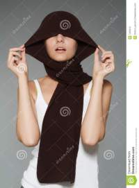 Girl with a scarf stock image. Image of model, fashion ...