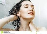 Girl at the shower stock image. Image of freshness, close ...