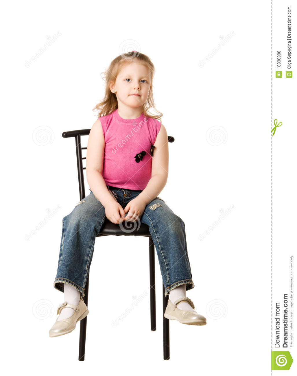 little girls chairs commercial chair rail girl sitting on stock photo image of child excited