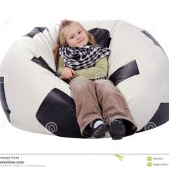 Inflatable Soccer Ball Chair Hot Pink Accent Girl Sitting On An Stock Images Image