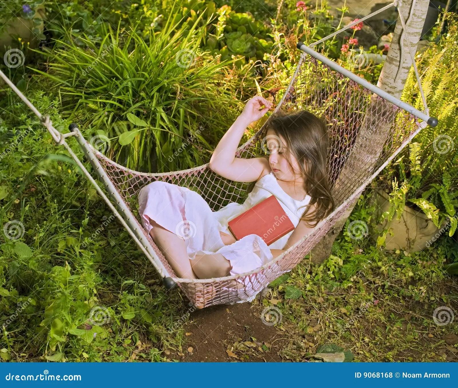 Girl Sleeping In A Hammock Royalty Free Stock Photos