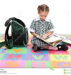 girl student studying school homework reading book [ 1300 x 957 Pixel ]