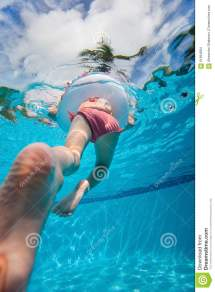 Girl Swimming In Pool Stock Of Playful