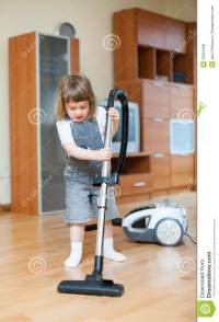 Girl With Vacuum Cleaner Royalty Free Stock Photos - Image ...